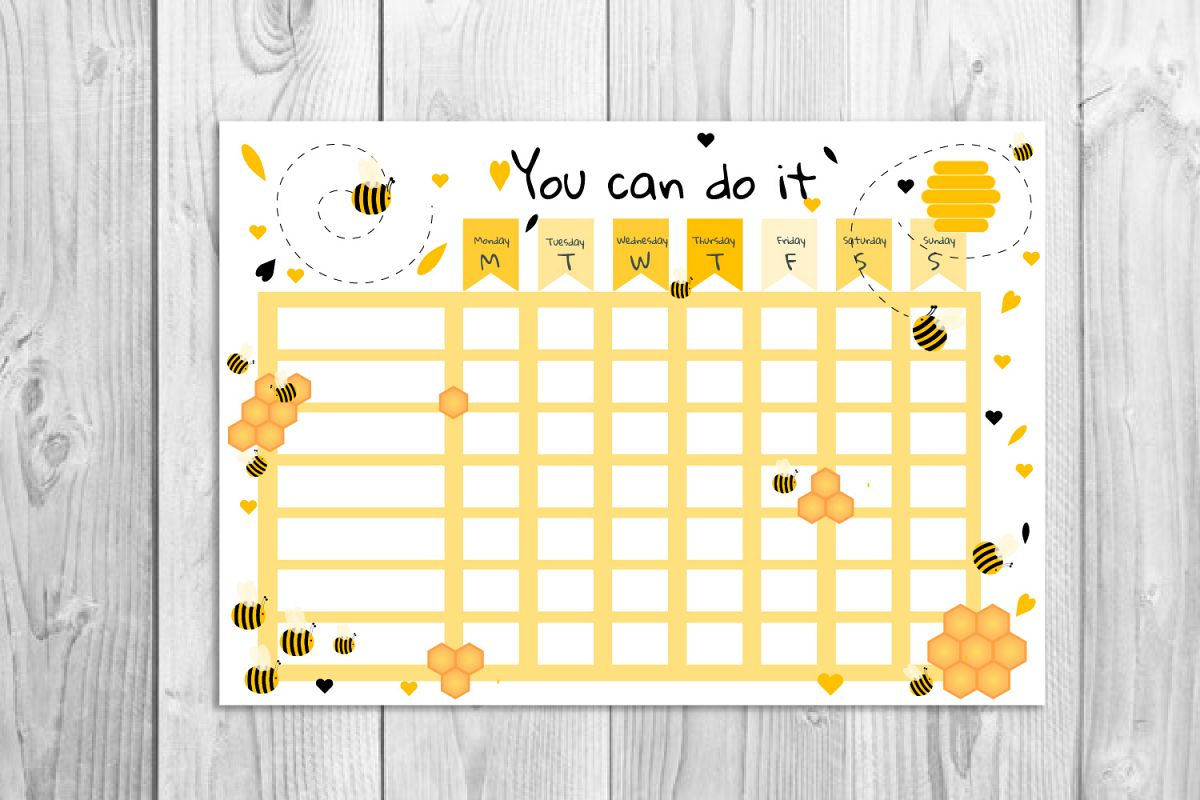It's just a photo of Toddler Reward Chart Printable intended for chore