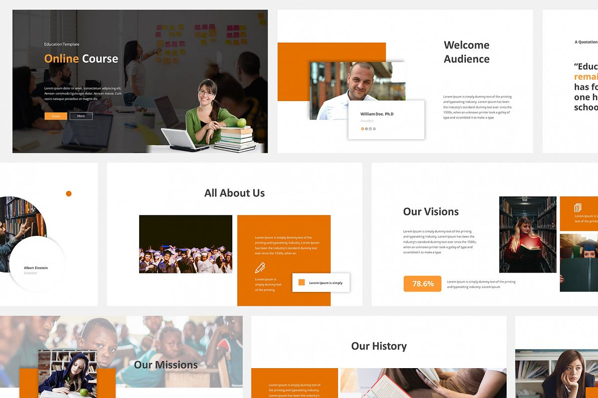 Online Course Powerpoint Template example image 1