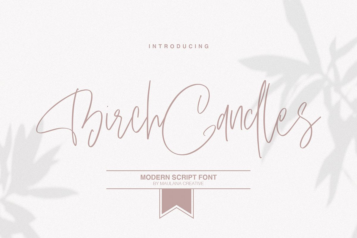 Birch Candles - Handwritten Font example image 1