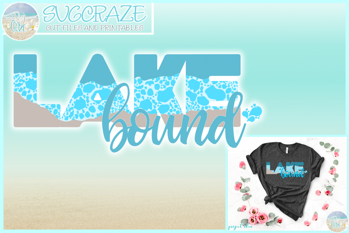 Lake Bound Svg Dxf Eps Png Pdf Files For Cricut example image 1