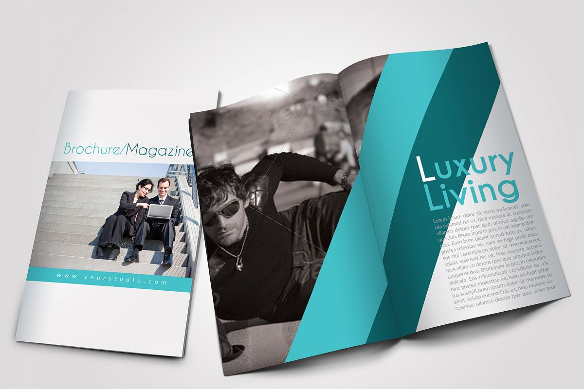 12 Pages Professional Business Bifold Brochure example image 1