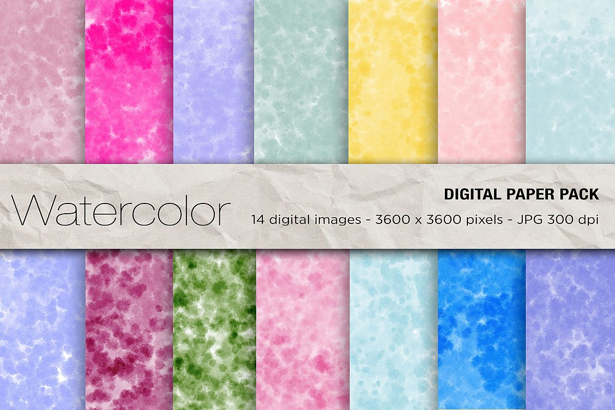 Wedding Invitation Papers, watercolor background,wedding example image 1