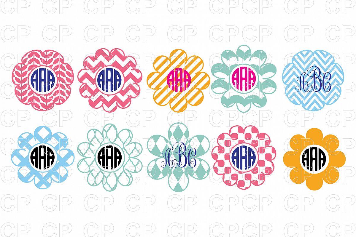 Flower Frame Bundle SVG Cut Files, Flo | Design Bundles