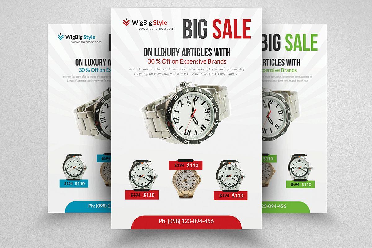 product sale flyer template by designhu design bundles