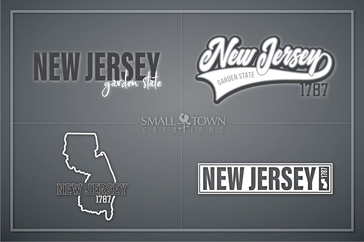 New Jersey, Garden State - slogan, PRINT, CUT & DESIGN example image 1
