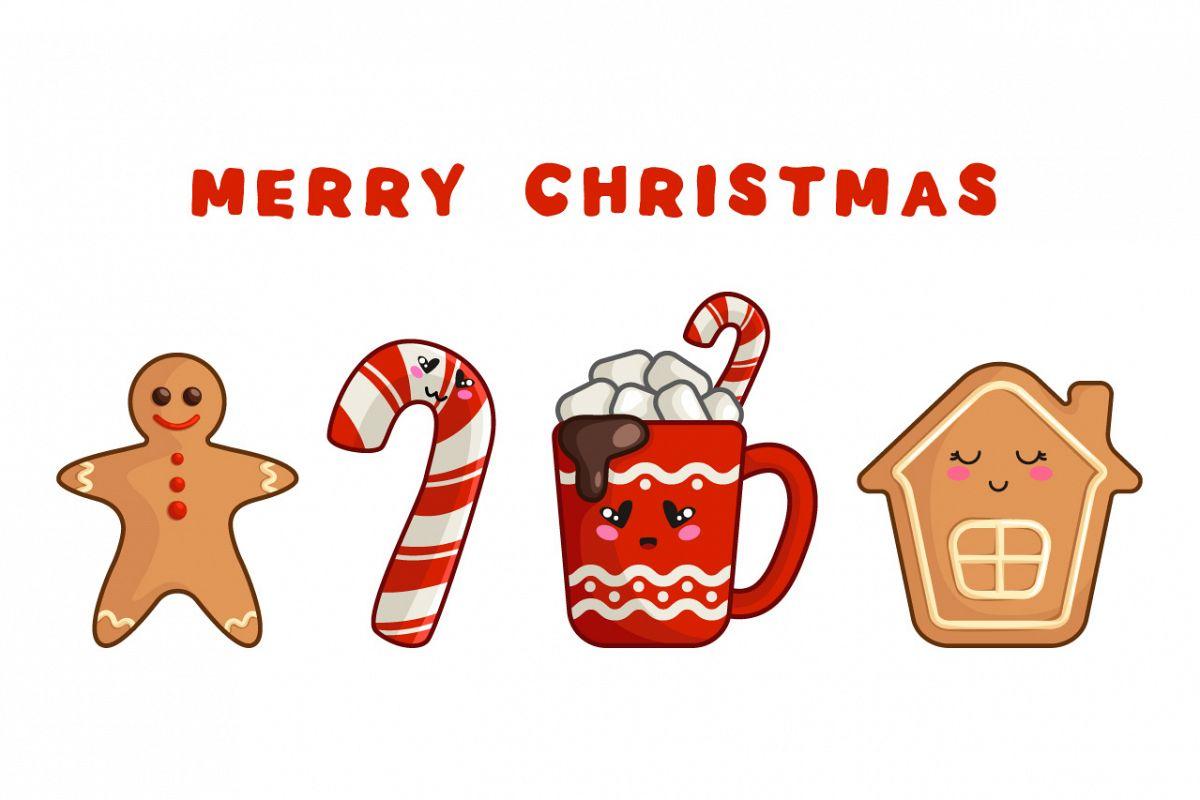 Merry Christmas - kawaii characters example image 1