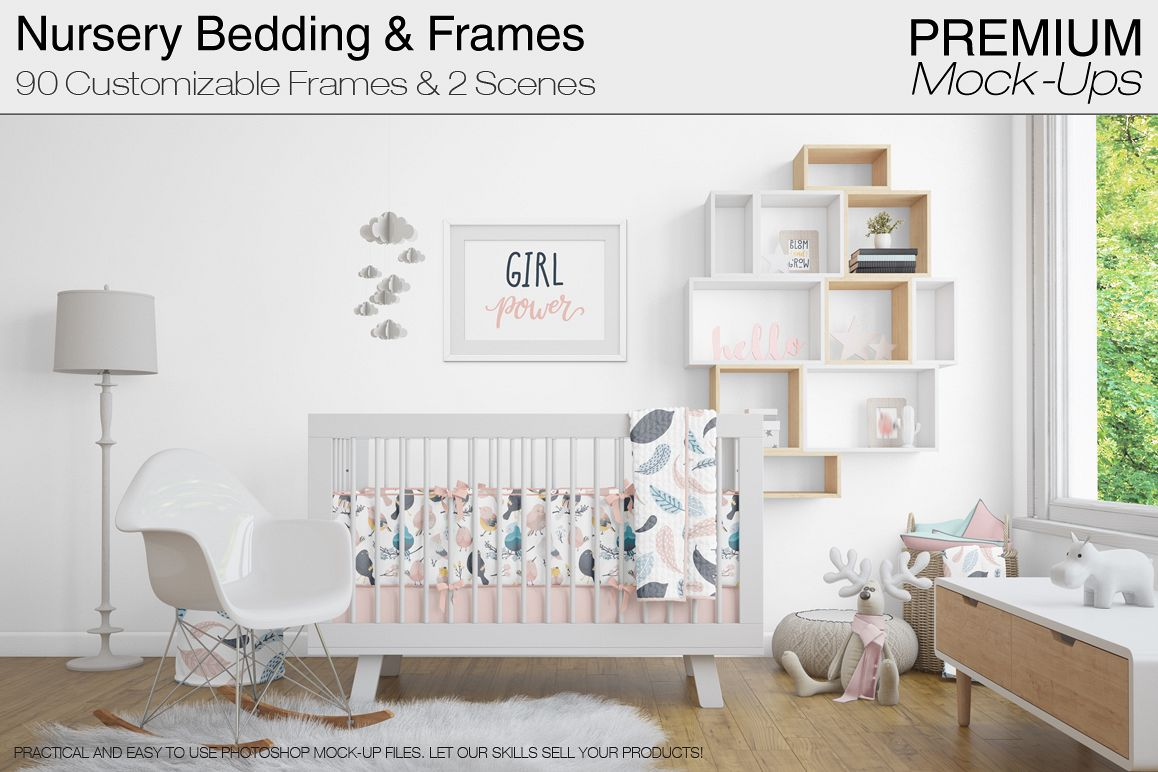 Nursery Bedding Wall Frames Example Image 1