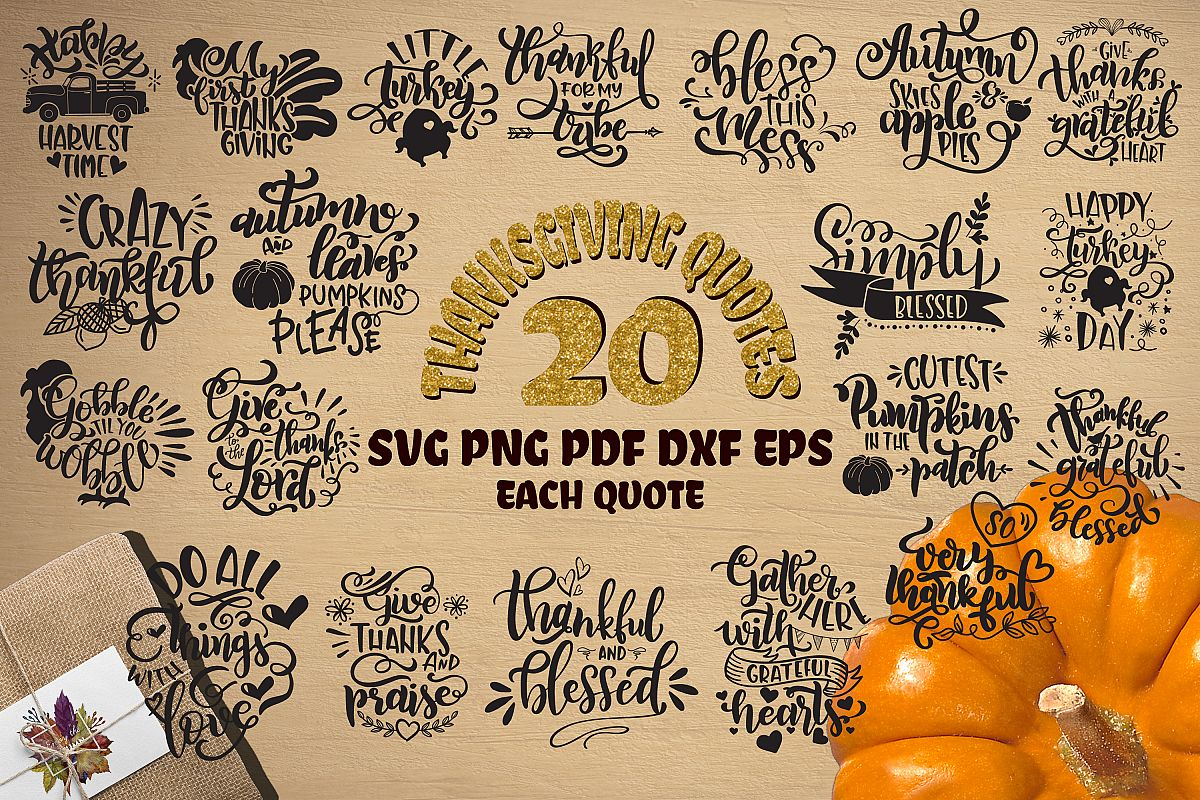 Thanksgiving bundle svg Gobble SVG Pumpkins svg Turkey example image 1