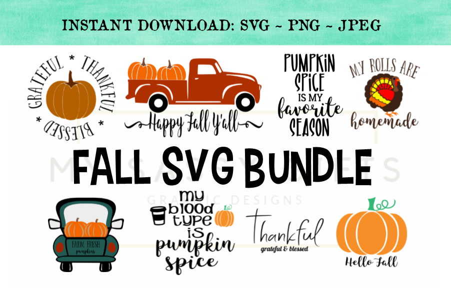 Funny Fall or Autumn Harvest Season SVG Bundle example image 1