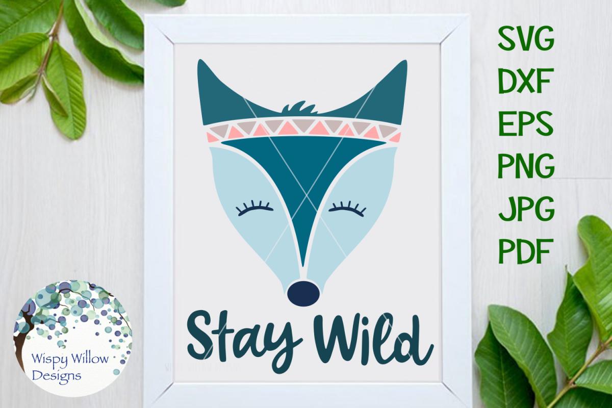 Stay Wild Boho Fox SVG example image 1