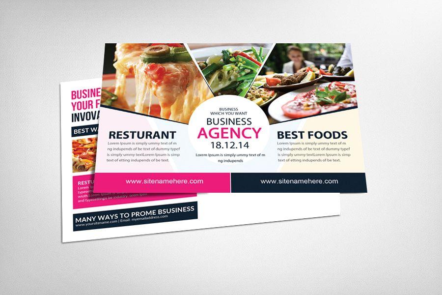Food & Pizza Restaurant Postcard example image 1