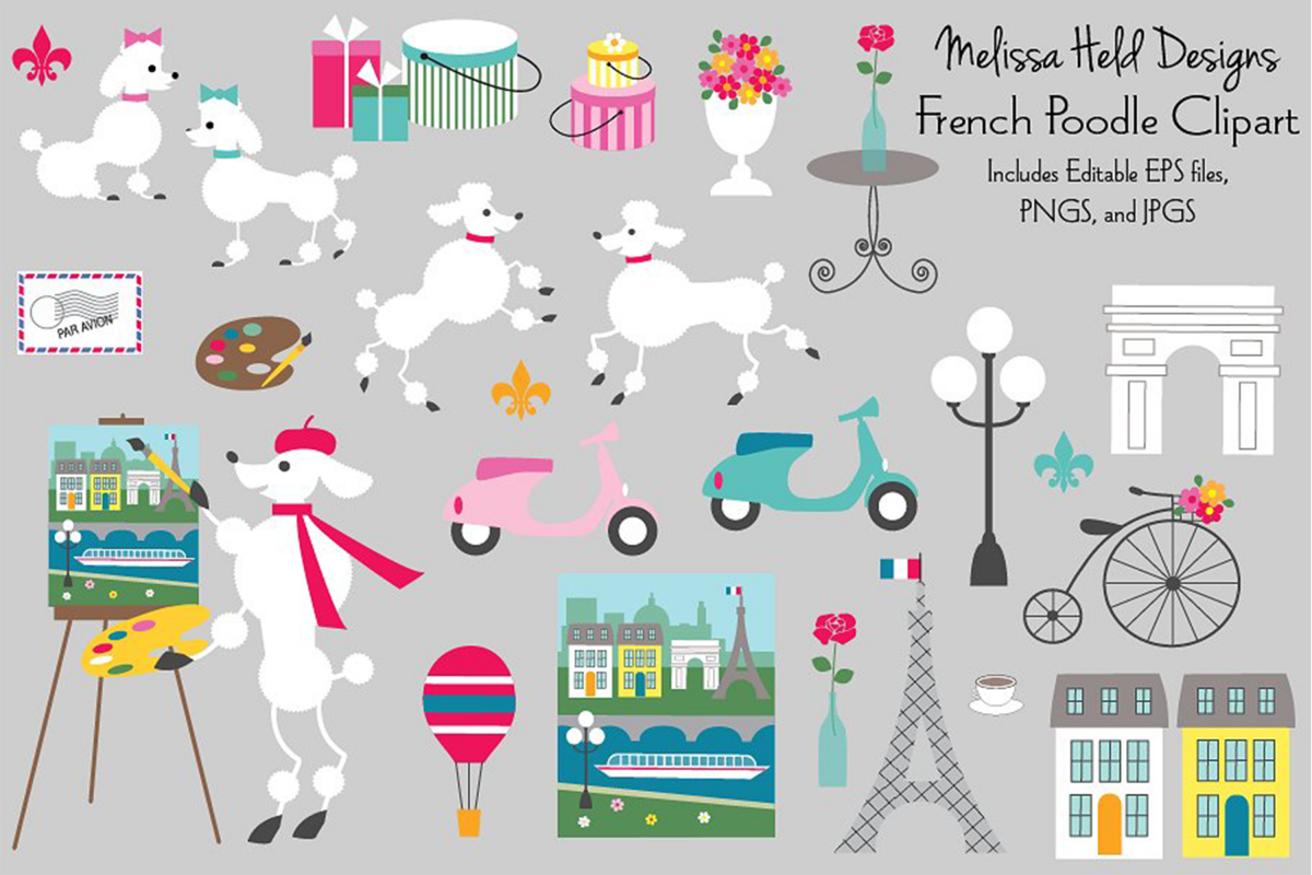 French Poodle Clipart example image 1