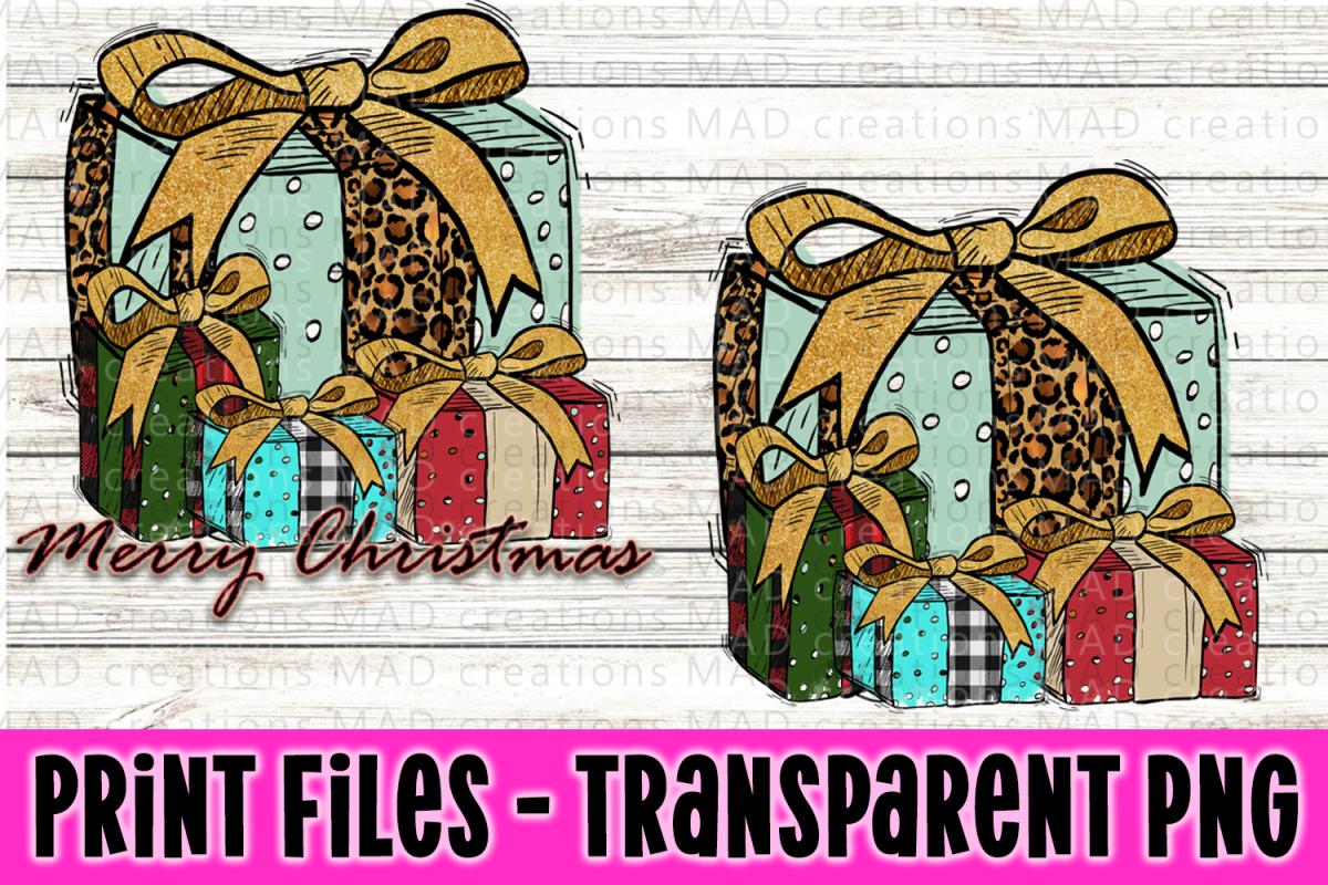 4 Christmas Present - Merry Christmas - Print File example image 1