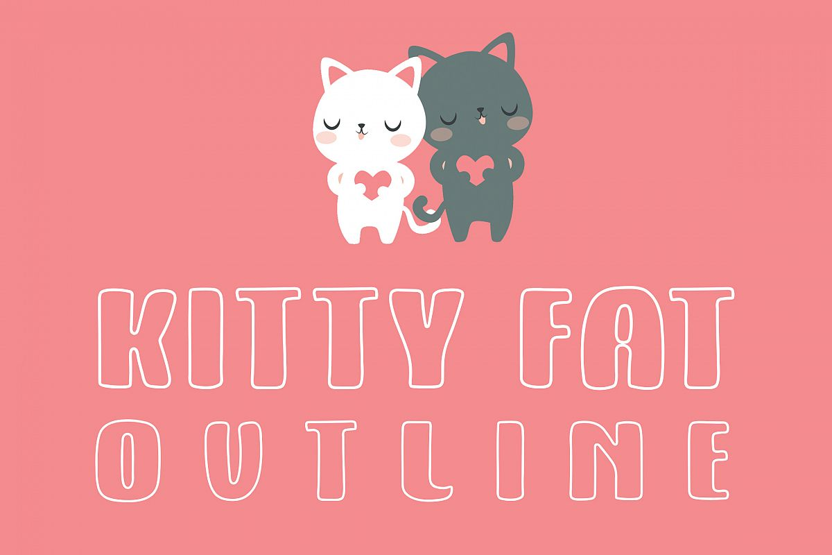 Kitty Fat - Outline example image 1