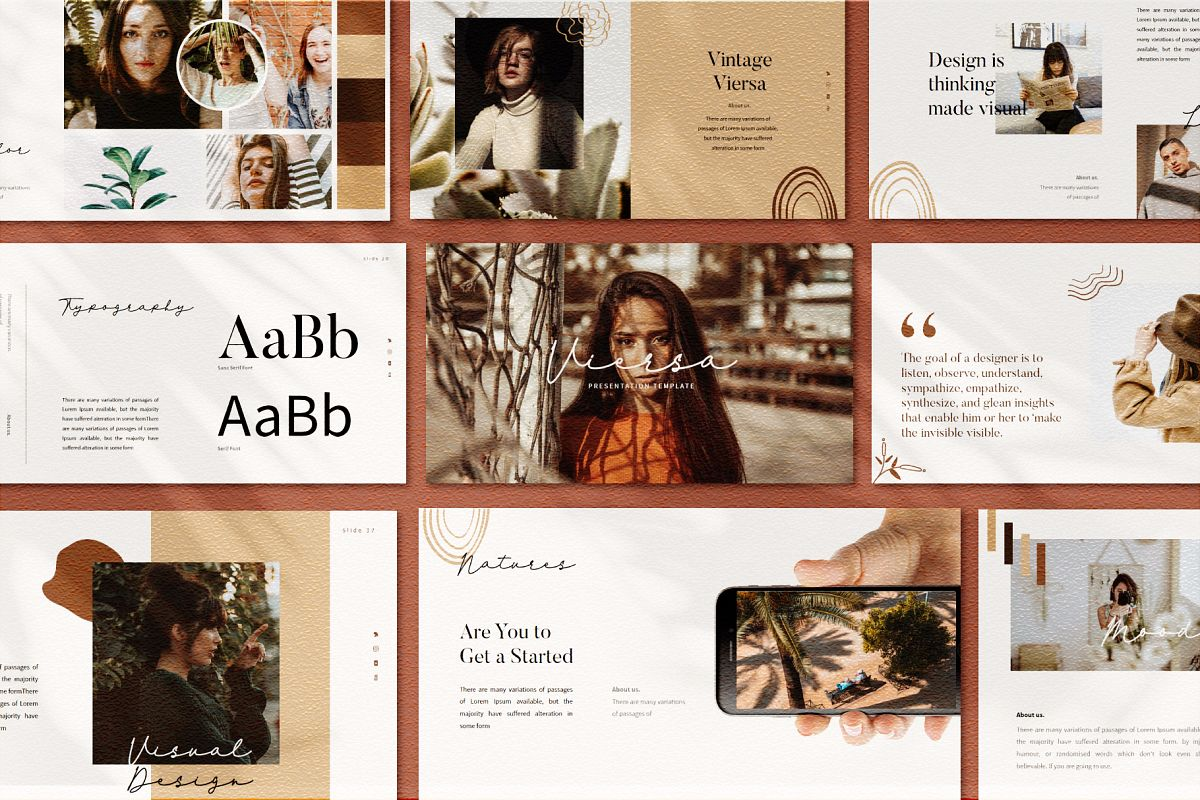 VIersa Creative Presentation Template example image 1