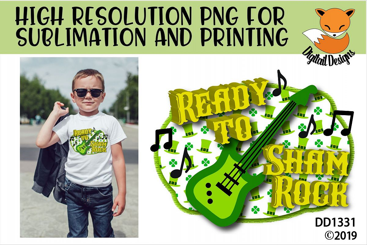 St Patrick's Day Ready To Shamrock Sublimation Printable example image 1