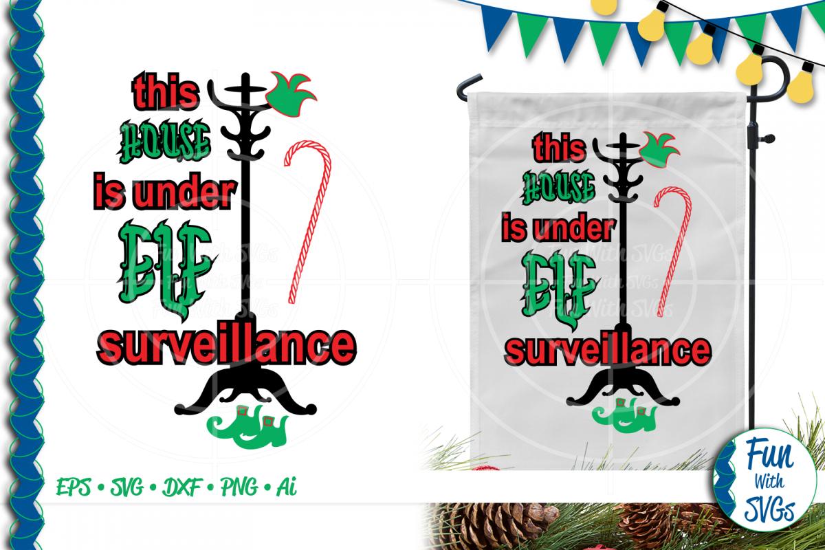 SVG Elf Surveillance Vector, Cut File, Clip Art FWS479 example image 1