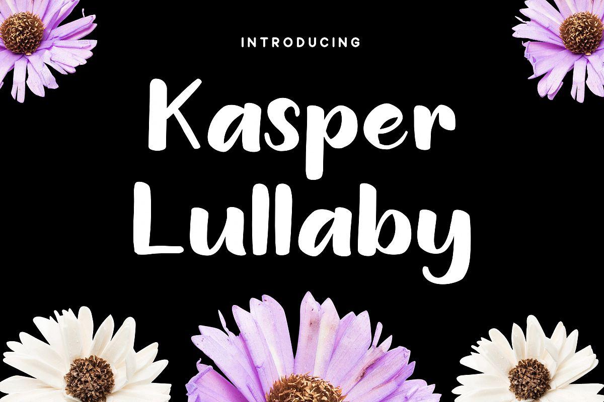 Kasper Lullaby - Handdrawn Sans Font example image 1