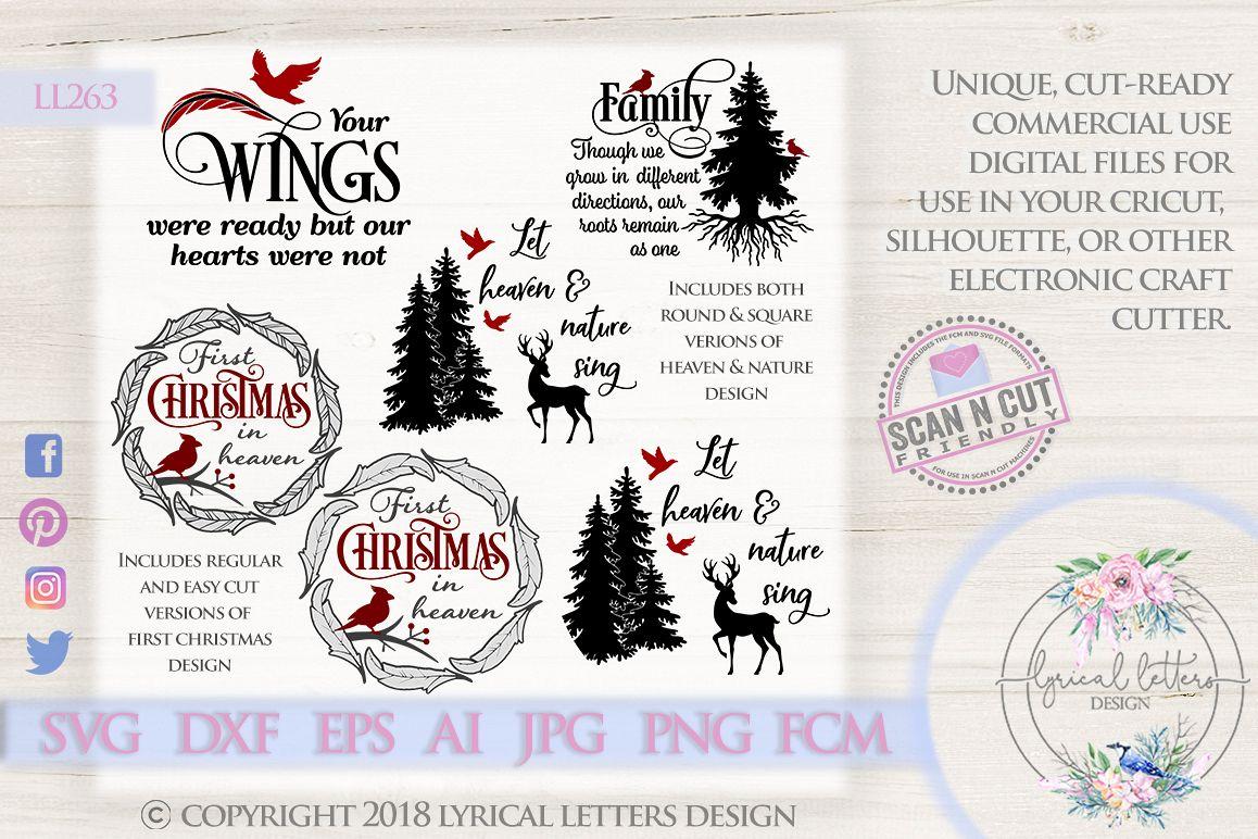 Cardinal Christmas Bundle of 4 SVG DXF FCM Cut Files LL263 example image 1