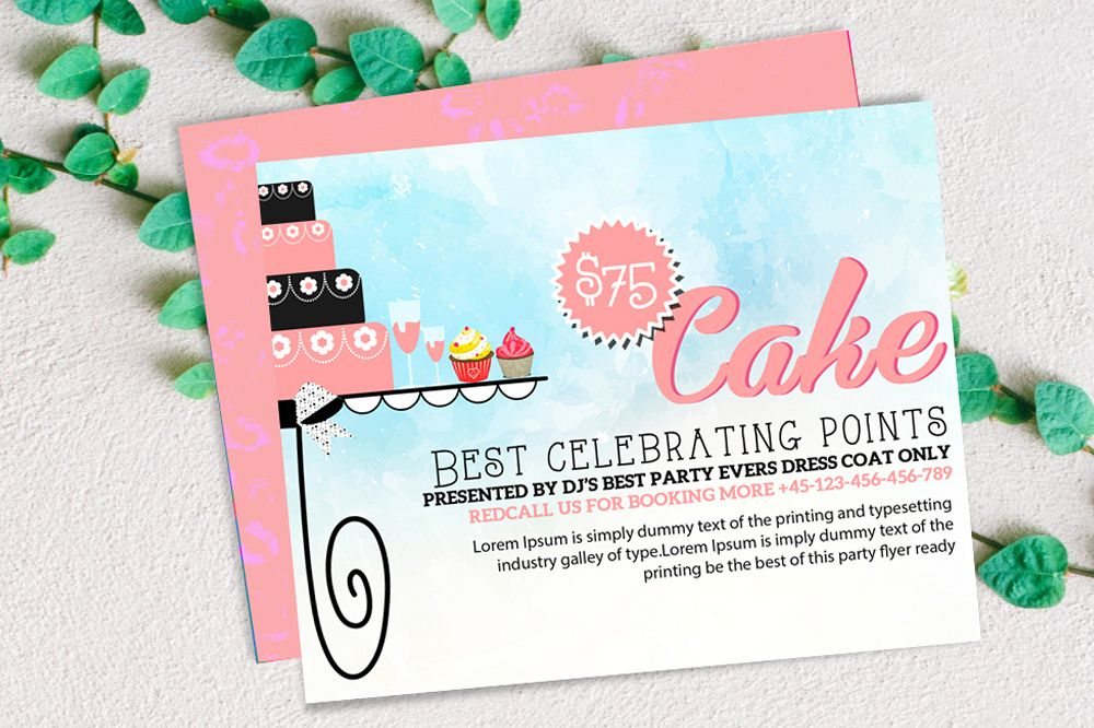 Birthday Invitation Card Template example image 1