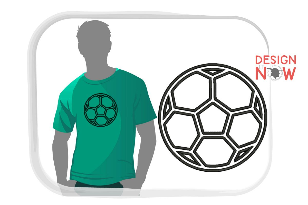 Soccerball Applique Design, Sport Embroidery, Ball Applique example image 1