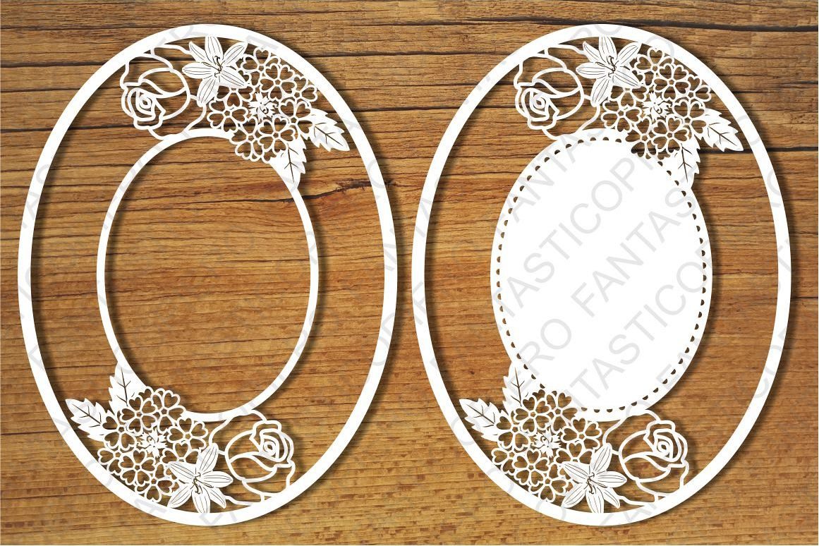 Ornamental Frame 10 SVG files for Silhouette and Cricut. example image 1