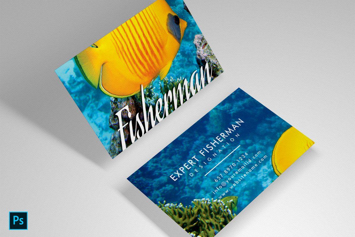Fishing Marine Aquarium beautiful unique card example image 1