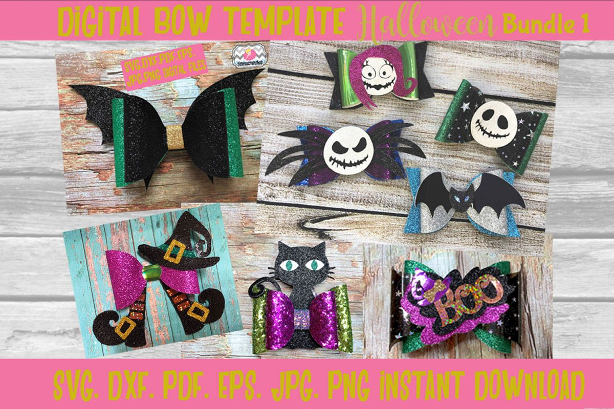 Halloween Hair Bow Template Bundle 1