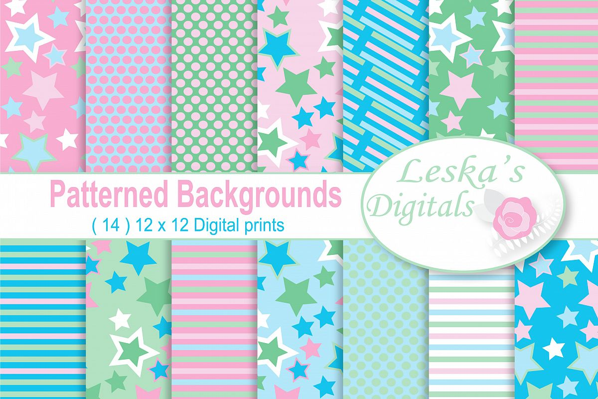 Pink and Blue Backgrounds example image 1