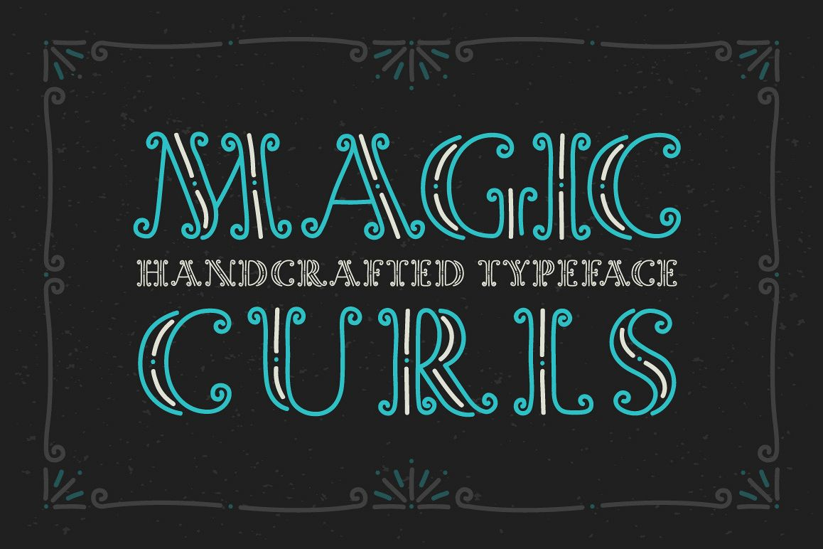 Magic Curls font example image 1