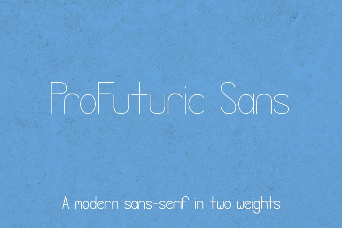 ProFuturic Sans example image 1