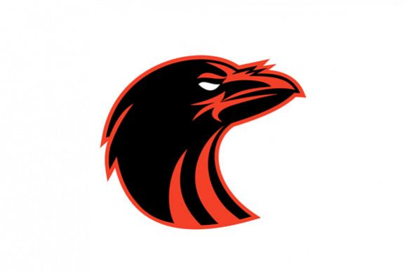 Angry Raven Head Icon example image 1