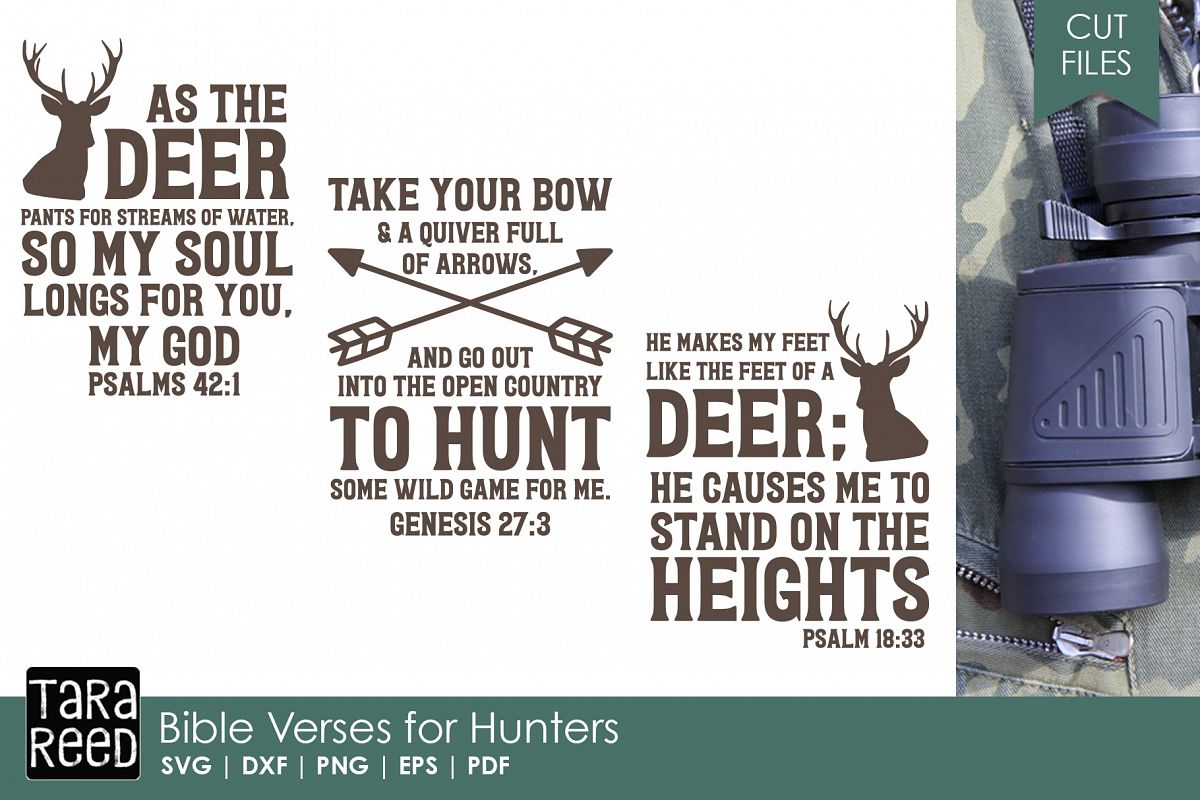 Bible Verses for Hunters - Hunting SVG and Cut Files example image 1