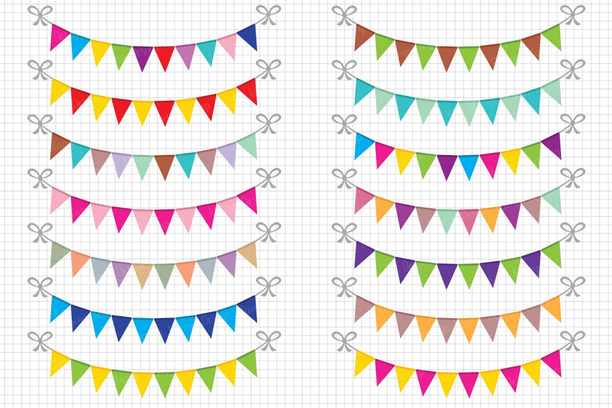 Party banner. Bunting banners clipart flag