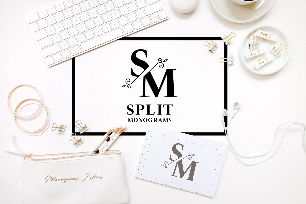 Split Monograms Font example image 1