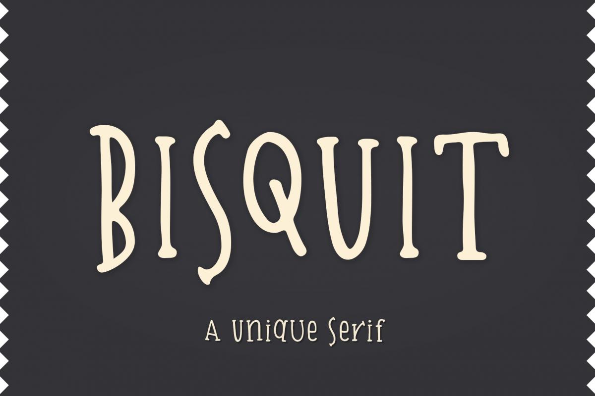 Bisquit   A Unique Serif example image 1