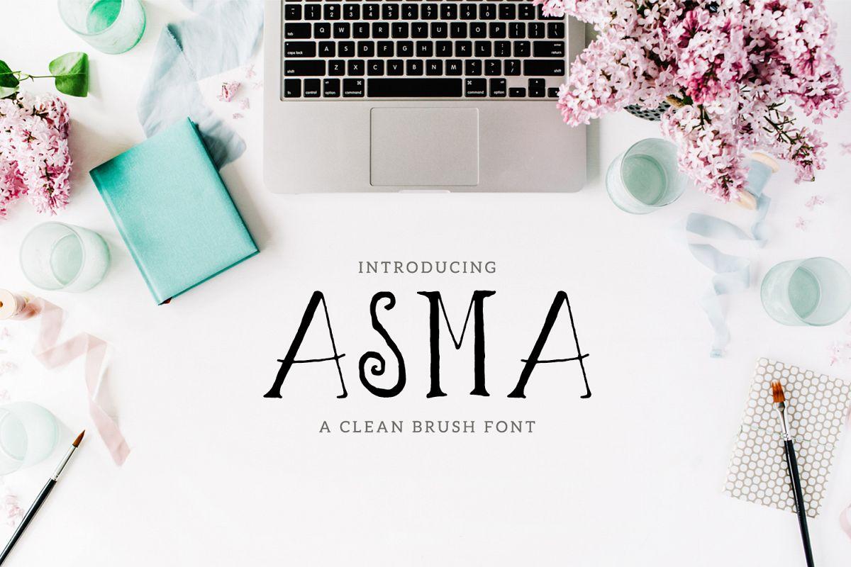 Asma Brush Font example image 1