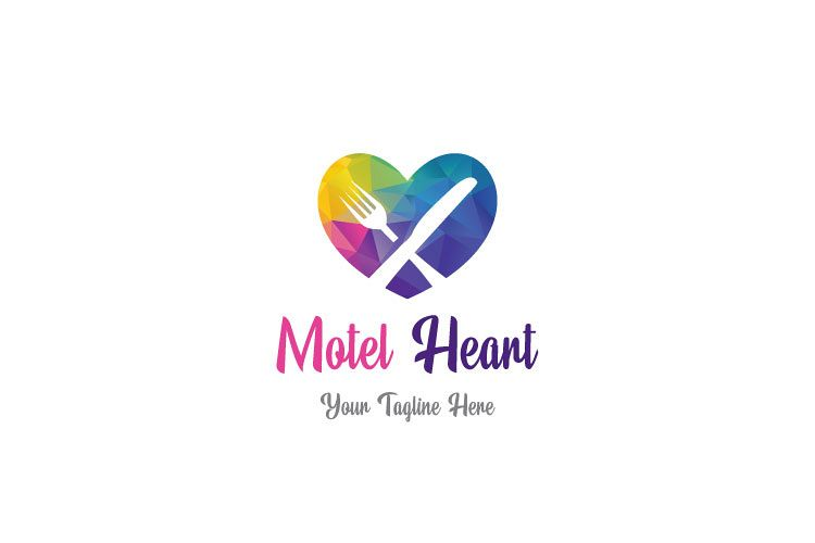 Heart Shape, Restaurant Logo example image 1