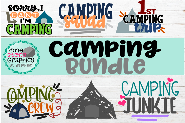 Camping Bundle svg,camping svg,camping svgs,tent svg, example image 1