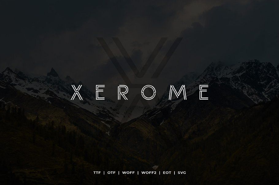Xerome Display Typeface with Web-font example image 1