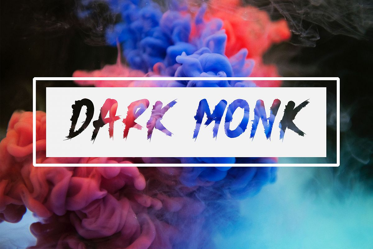 Dark Monk - Brush Font example image 1