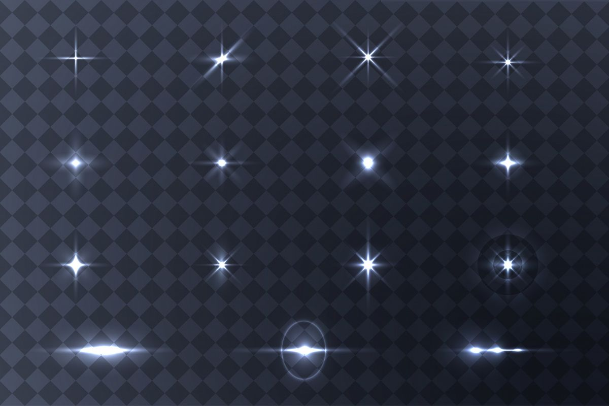 Collection of vector light effects. example image 1