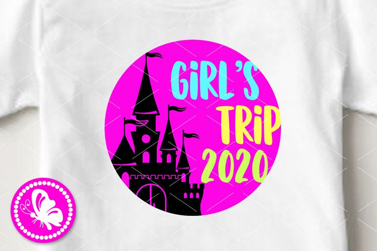 Girl's trip 2020 svg Castle palace clip art Cruise Vacation example image 1