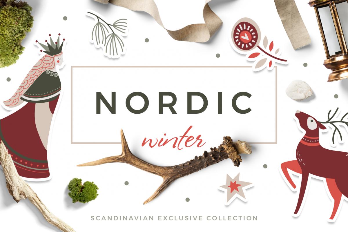 Nordic winter scandi christmas set example image 1