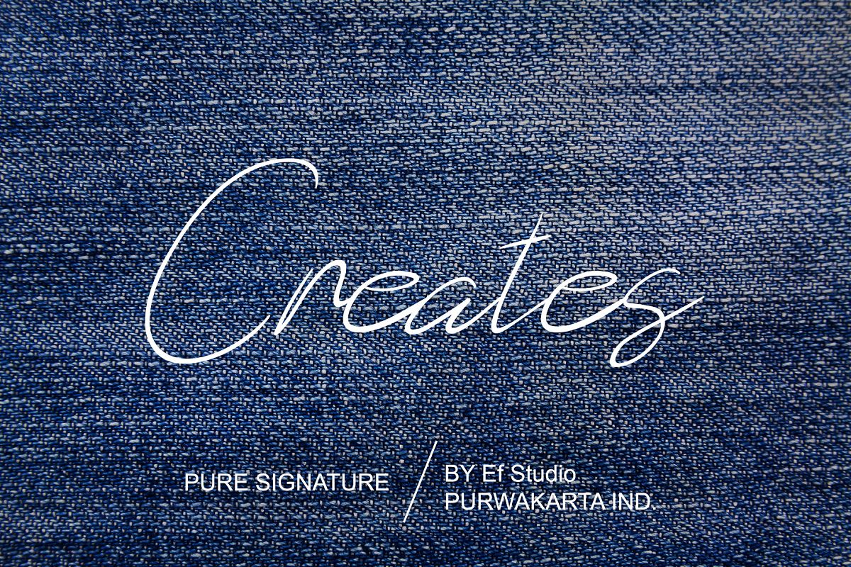 Creates - Pure Signature example image 1