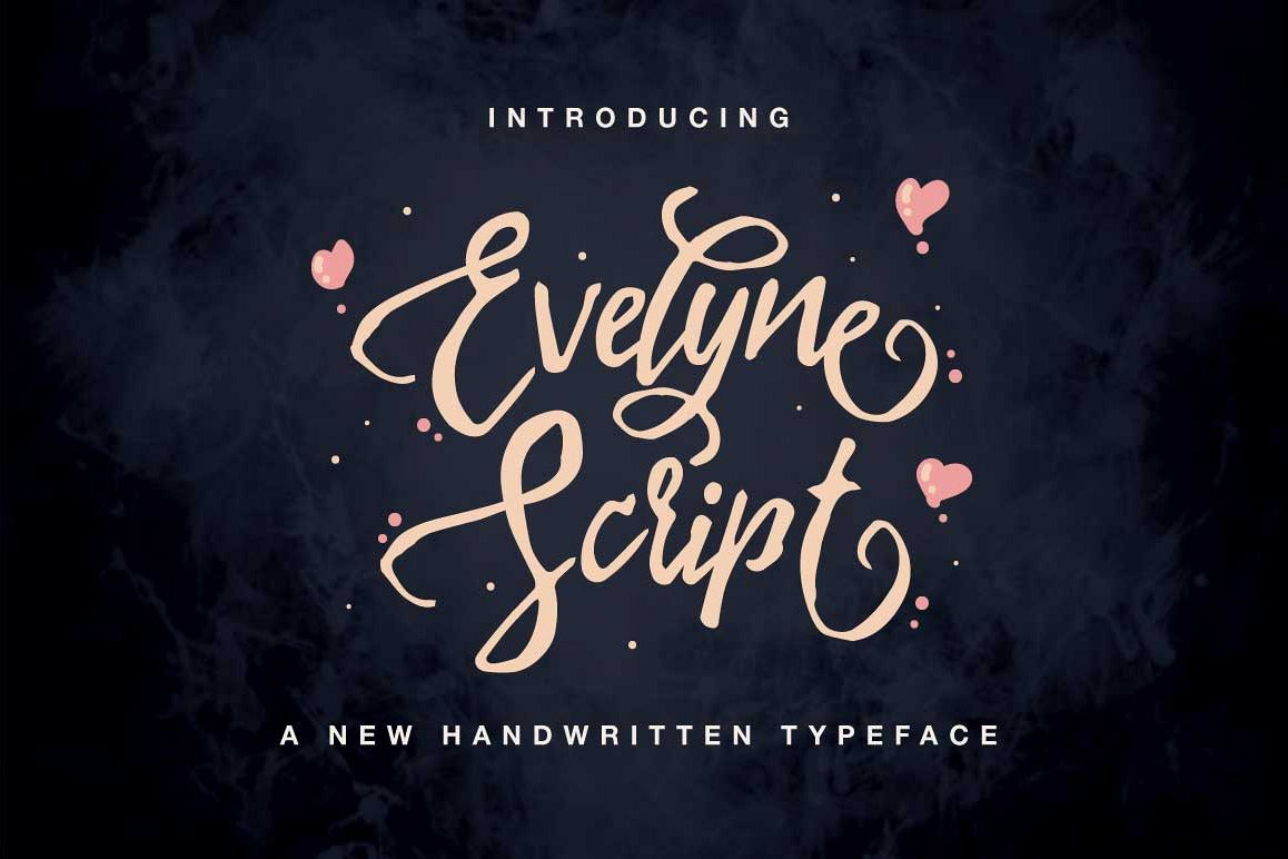 Evelyne Script example image 1
