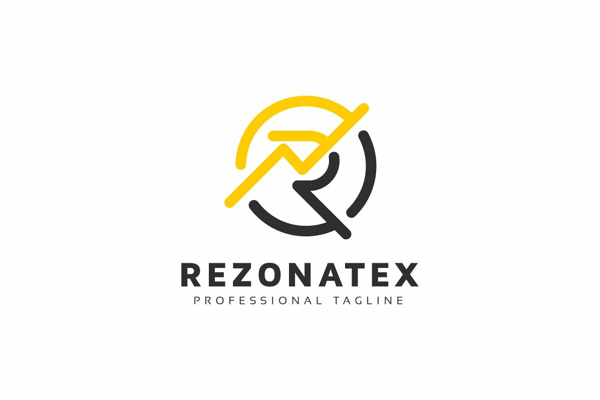 Rezonatex R Letter Logo example image 1