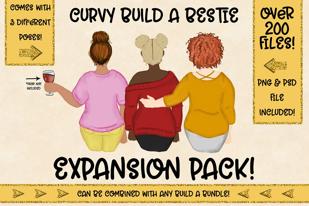 Curvy Build a Bestie| Expansion Pack for Build Bundles example image 1