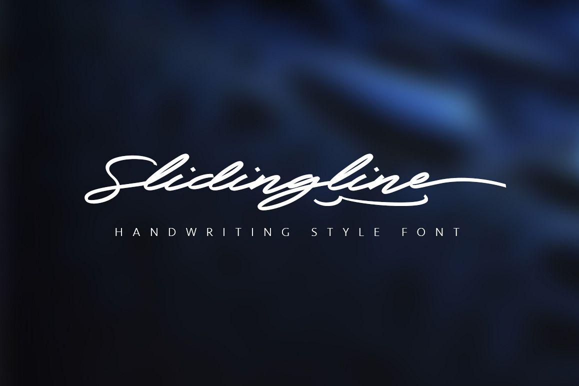 Slidingline Script Typeface example image 1