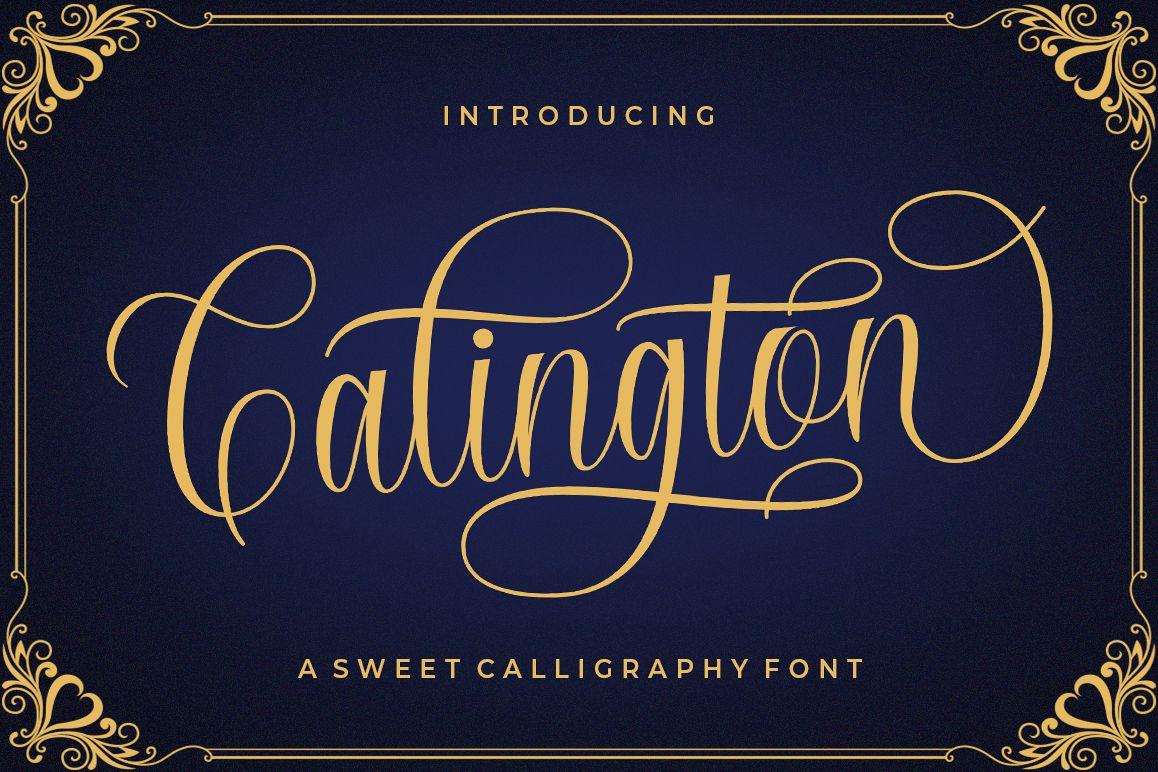 Calington Script example image 1